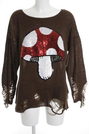 Wildfox Maglione lavorato a maglia motivo floreale stile da moda di strada