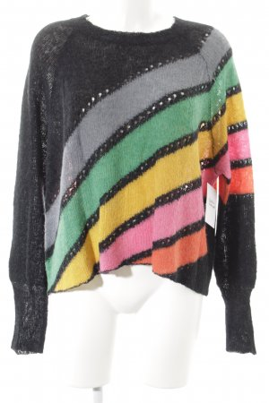 Wildfox Strickpullover Lochstrickmuster Casual-Look