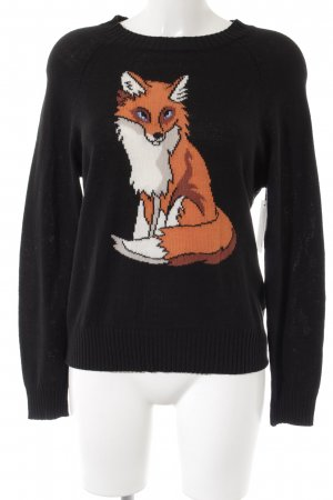 Wildfox Strickpullover Motivdruck Casual-Look