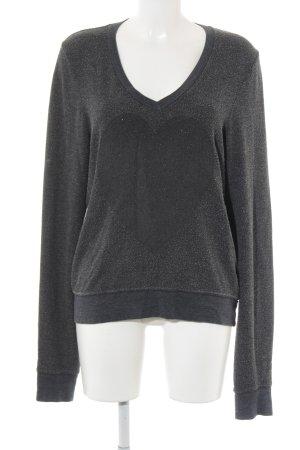 Wildfox Sweatshirt grau-graublau Herzmuster Casual-Look