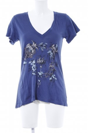 Wildfox T-Shirt dunkelblau Motivdruck Casual-Look