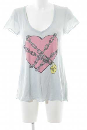 Wildfox T-Shirt Herzmuster Casual-Look