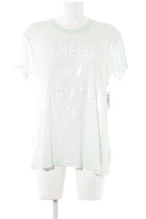 Wildfox T-Shirt mint Schriftzug gedruckt Casual-Look