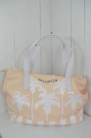 WILDFOX Tasche Strandtasche Mod.Palms Rosa Weiß Baumwolle Polyester Palmen Neu!