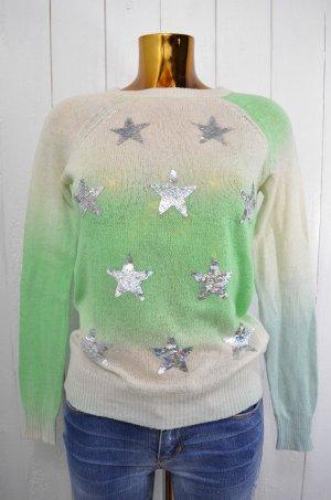 WILDFOX White Label Damen Pullover Strick Pailletten Farbverlauf Sterne Gr.S