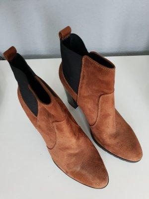 wildleder ankle boots gr. 40 cognac braun neu