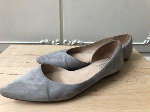 H&M Premium Ballerinas with Toecap light grey leather