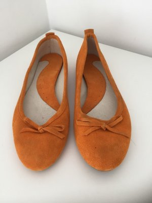 Mary Jane Ballerinas orange suede