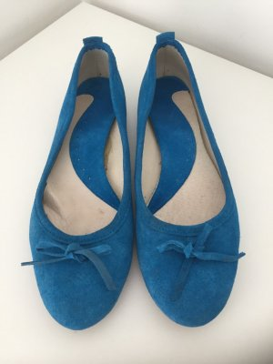 Mary Jane Ballerinas steel blue suede