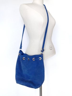 H&M Pouch Bag blue suede