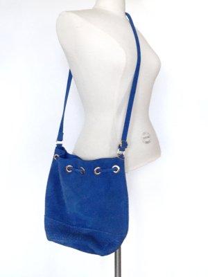 H&M Borsellino blu Scamosciato