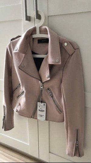 Zara Veste en cuir or rose-argenté