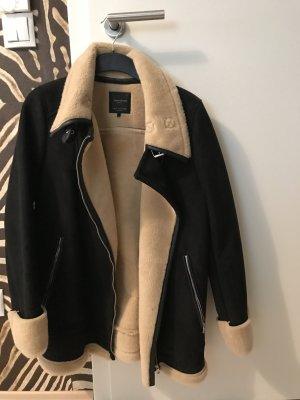 Zara Veste noir-brun