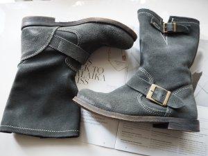 Wildleder-Boots grau/ Suede Gr. 37