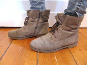 Wildleder Boots Puratex Stiefel Schnürschuhe Braun Größe 36 bis 37