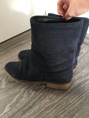 Wildleder Boots Stiefeletten in Dunkelblau