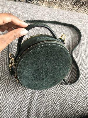 Crossbody bag dark green-bronze-colored