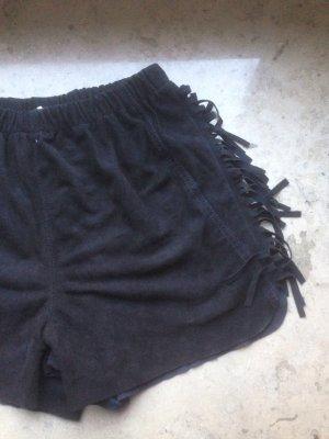 wildleder fransen shorts vintage