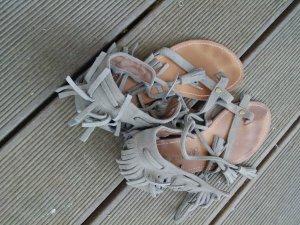Les Tropéziennes High-Heeled Toe-Post Sandals grey
