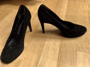 Wildleder Heels in schwarz, 36