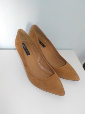 Wildleder hellbraune Pumps von Mango in 37