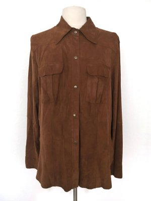 Madeleine Leather Jacket brown suede