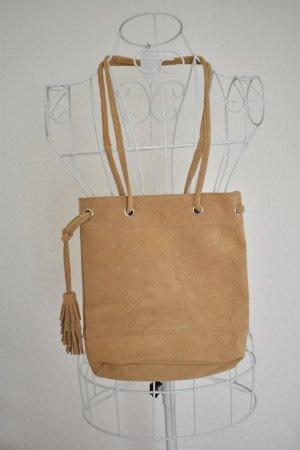 Carry Bag camel-beige suede