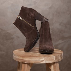 Wildleder High Heel Ankle Boots