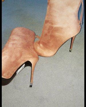Wildleder high heels in rosa