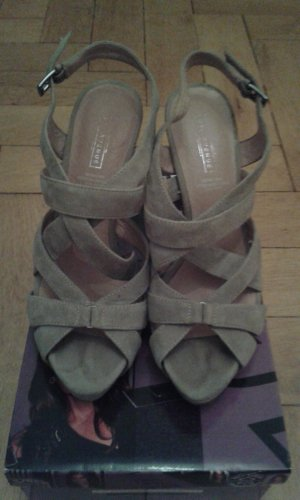 5th Avenue High Heel Sandal light grey-oatmeal