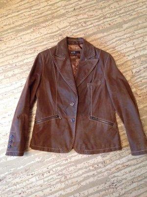 Wildleder-Jacke/Blazer, braun, used-look, ungetragen, Marke AUSTx