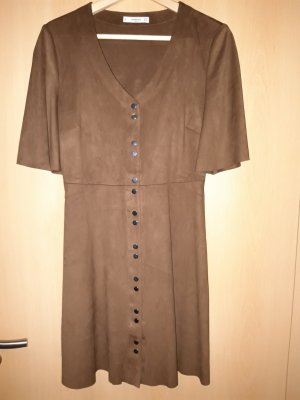 Mango Leather Dress brown