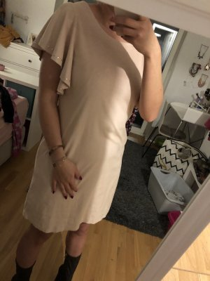 Zara Leather Dress rose-gold-coloured