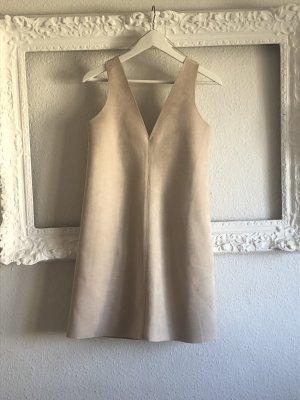 Zara Vestido elástico beige claro