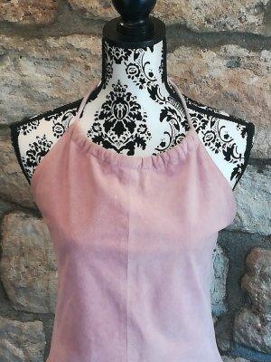 Wildleder Kleid in Rosa, Lederkleid,Leder , Neckholder, Snapshot,Impressionen,Hochzeit,Fest,Party,Elegant