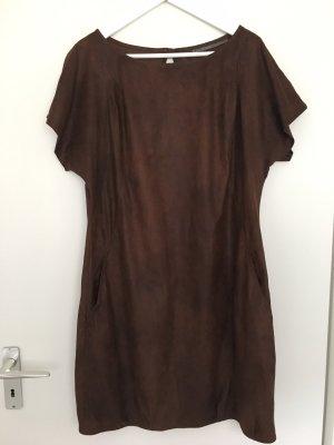 Zara vestido de globo marrón oscuro