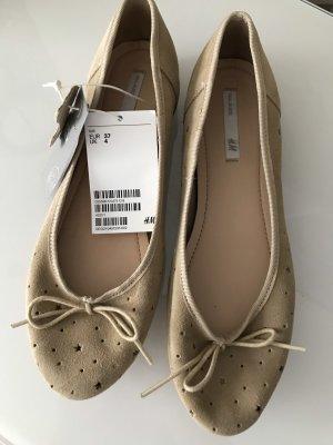 H&M Ballerina beige-color carne Scamosciato