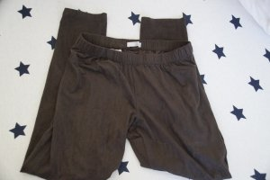 Wildleder Lederimitat Leggings Treggings in brau Promod sehr weich mit Tasche**
