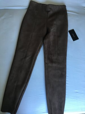 Zara Jeggings taupe-bronze-colored suede