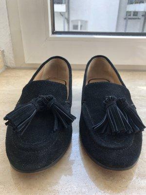 Wildleder Loafer mit Quasten Gr. 37