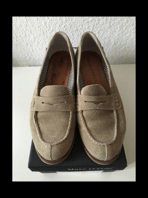 Wildleder-Loafer, sandfarben * Gr. 38 * Der Klassiker
