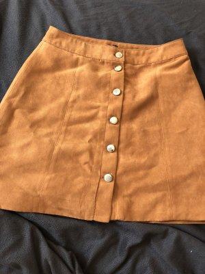 H&M Divided Falda de cuero multicolor
