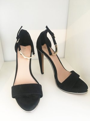 Wildleder Look Sandaletten Highheels