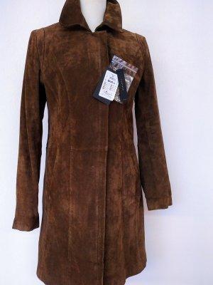 Wildleder Mantel mit Reißverschluss