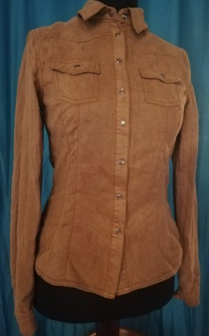 H&M Leather Blouse camel