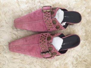 K+S Shoes Sandalo con tacco color oro rosa