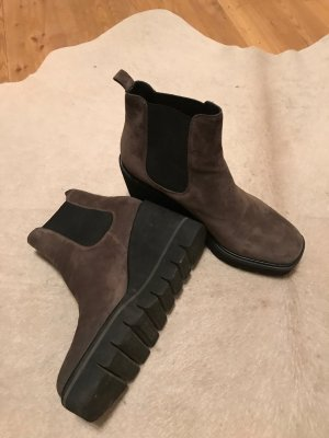 Kennel + schmenger Low boot gris anthracite daim