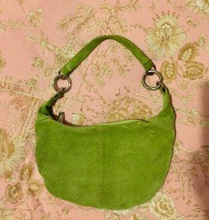 Wildleder Pochette Clutch Tasche grün