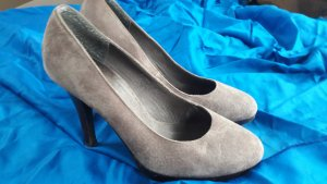 Wildleder Pumps Gr. 38 *taupe*