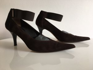Wildleder-Pumps in Chocolate-Braun aus Italien